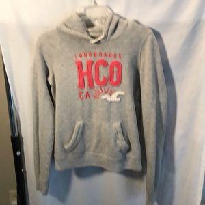 Hollister grey hooded sweatshirt ladies size M